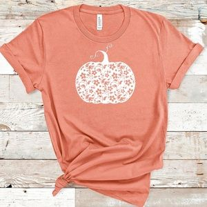 Floral Pumpkin Tee